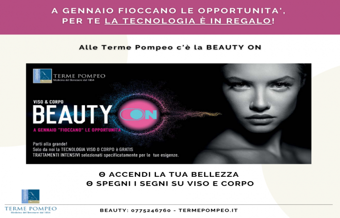 Beauty ON - A Gennaio la tecnologia è IN REGALO