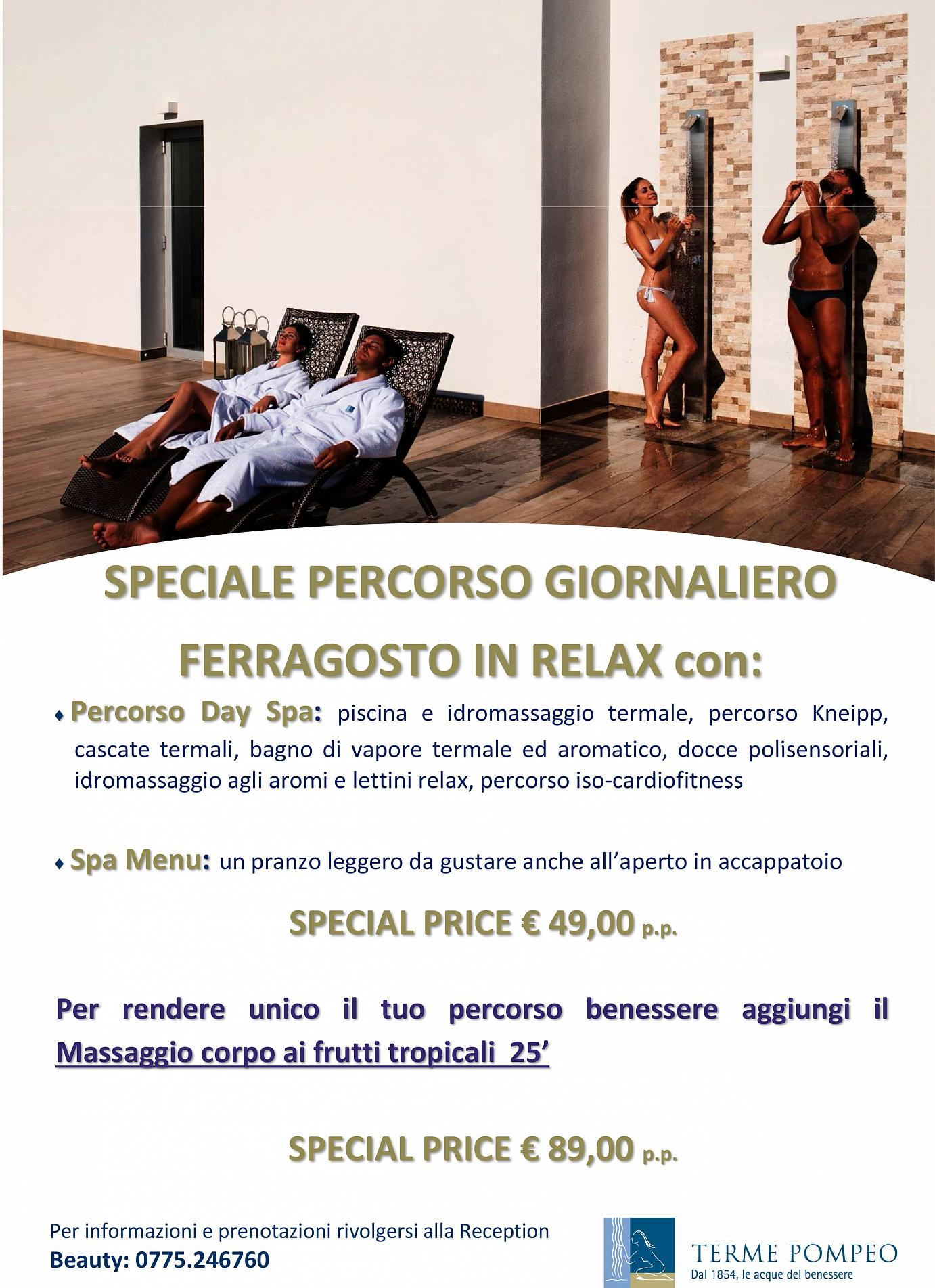 Day Spa Ferragosto Wellness Relax 2019