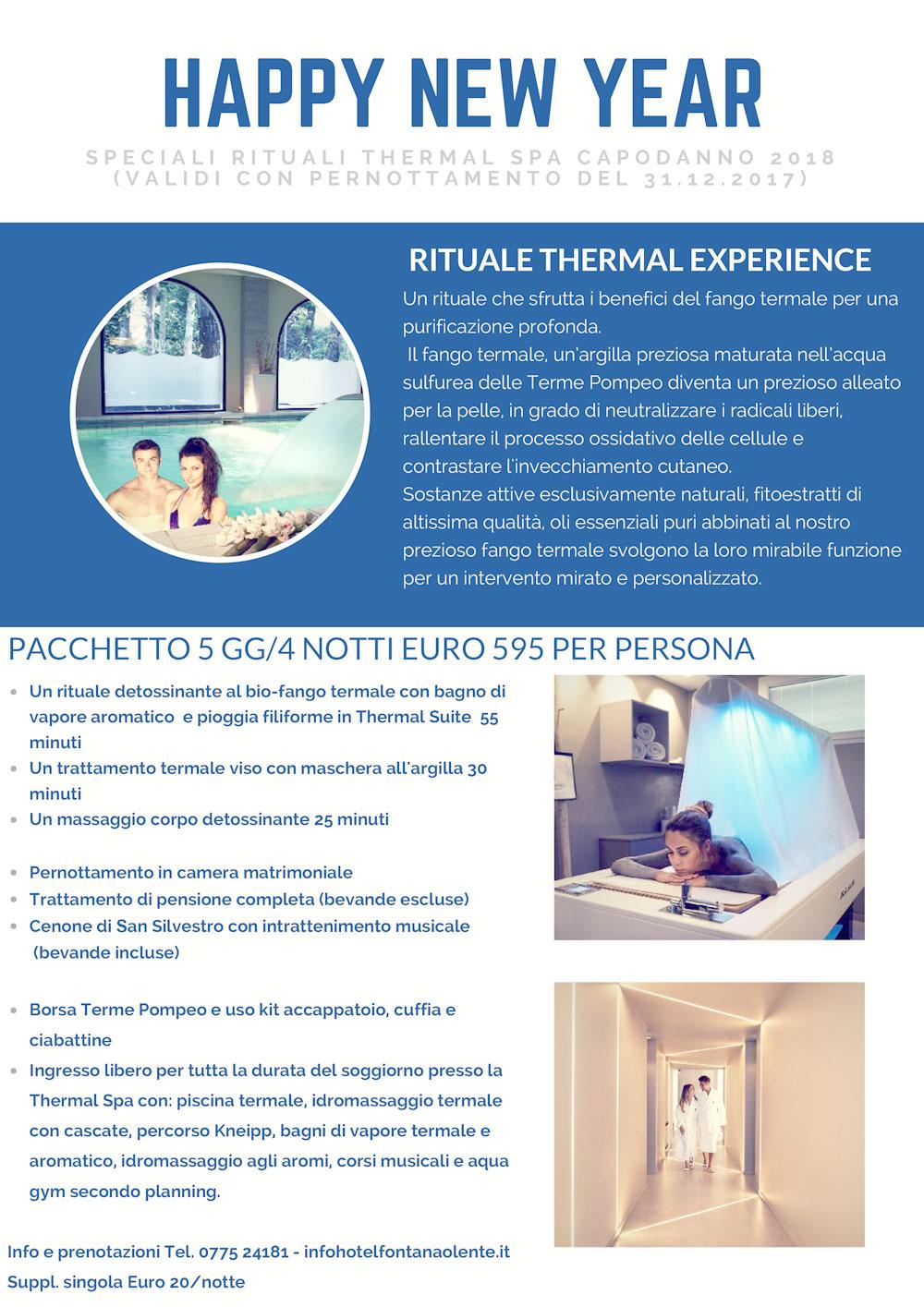Percorso Capodanno Rituale Thermal Experience 4 notti 2017 2018 opt