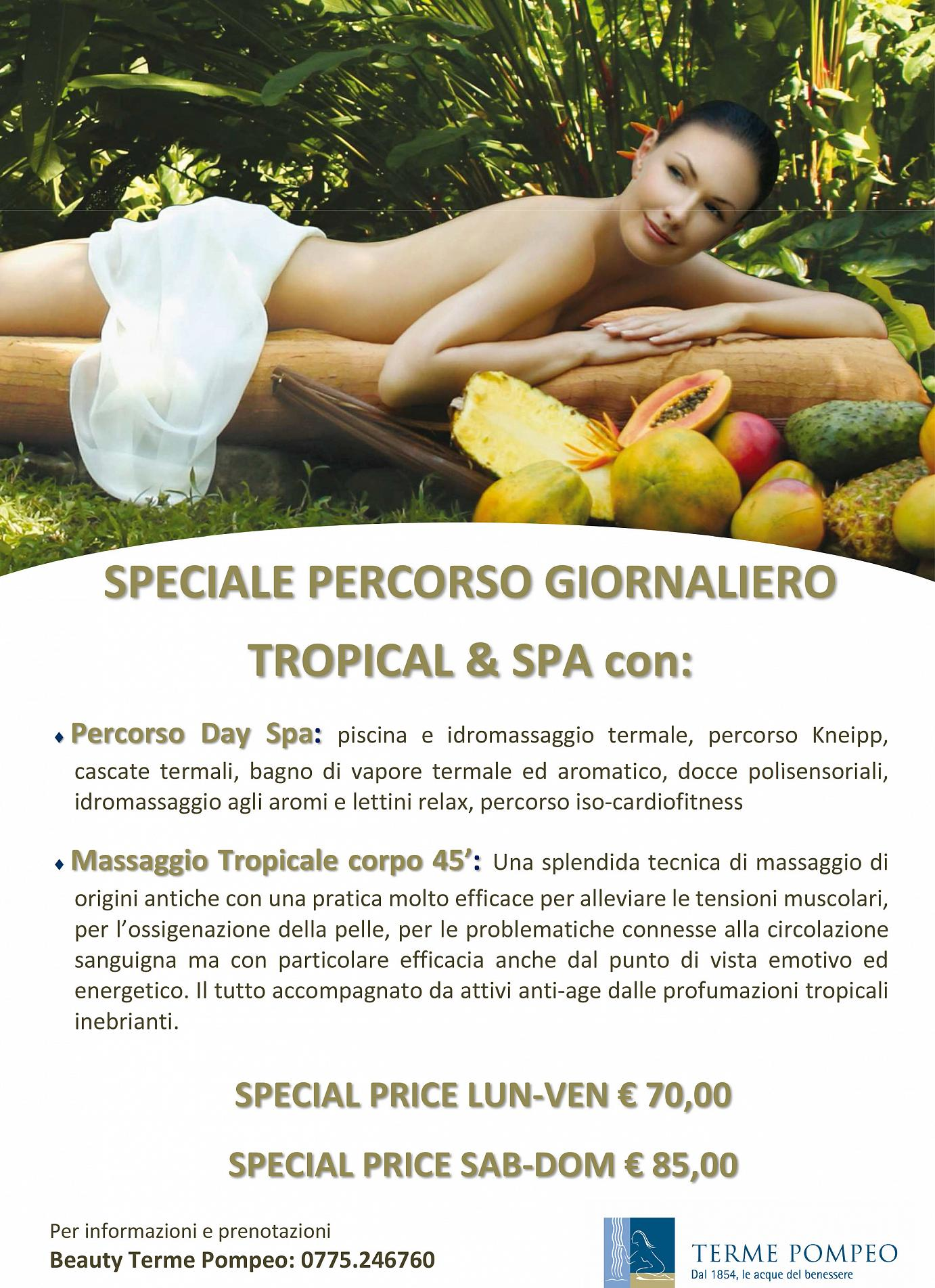 Percorso Day Tropical Spa