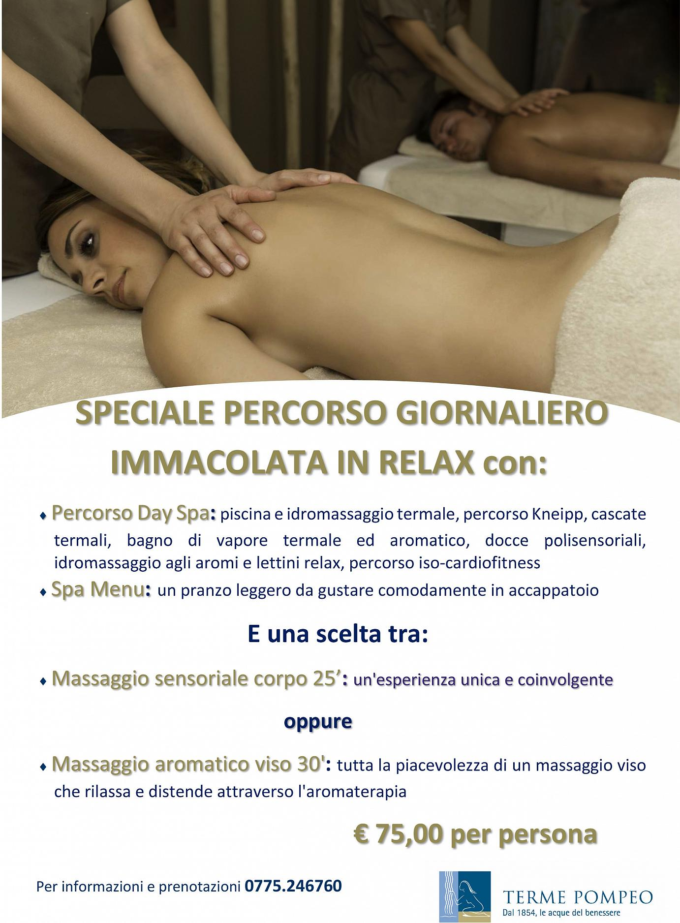 Thermal Day Spa Happy Immacolata in Relax 2018